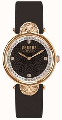 Versus Versace Bracelet femme en cuir bordeaux victoria harbour SP33150018