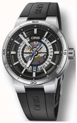 Oris Williams tt1 moteur cadran squelette bracelet en caoutchouc de silicone 01 733 7752 4124-07 4 24 06FC