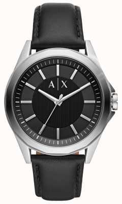 Armani Exchange Montre habillée pour homme | bracelet en cuir noir | AX2621