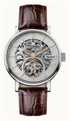 Ingersoll Bracelet cuir marron automatique charles pour homme I05801