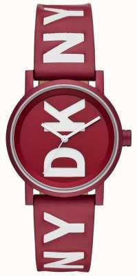DKNY Ladies soho montre cuir rouge NY2774