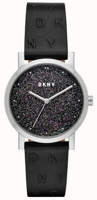 DKNY Dkny ladies soho montre bracelet en cuir noir NY2775