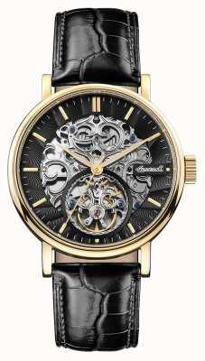 Ingersoll Bracelet cuir noir automatique charles pour homme I05802