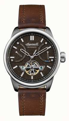 Ingersoll Le bracelet en cuir marron automatique triomphe I06703