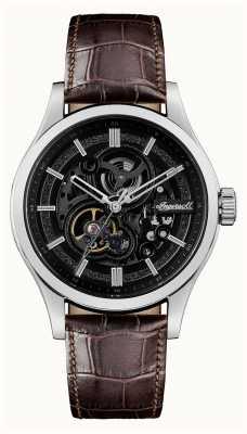 Ingersoll Le bracelet en cuir marron automatique armstrong I06801