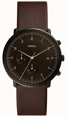 Fossil Bracelet en cuir marron pour homme FS5485