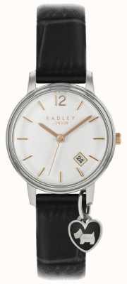 Radley Montre petite montre argentée avec bracelet noir RY2717