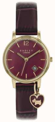 Radley Montre femme boitier or rose bracelet violet RY2718