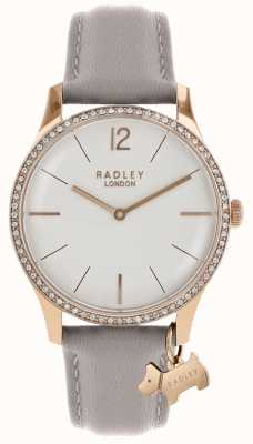 Radley Montre femme boîtier en or rose bracelet en cuir frêne RY2702