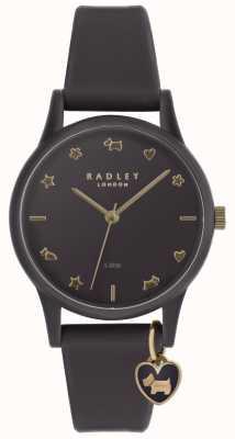 Radley Montre en silicone violet pour femme avec marqueurs or pâle RY2696