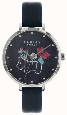 Radley Montre noire pour femme avec imprimé floral et chien RY2681