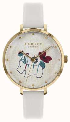 Radley Mesdames montre fleur et chien impression craie sangle RY2684