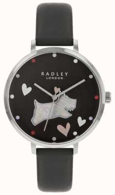 Radley Mesdames montre bracelet noir encre chien RY2679