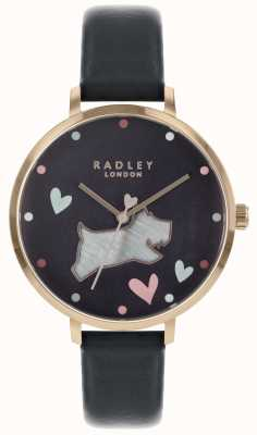 Radley Montre femme bracelet noir bracelet en encre rose or rose RY2680