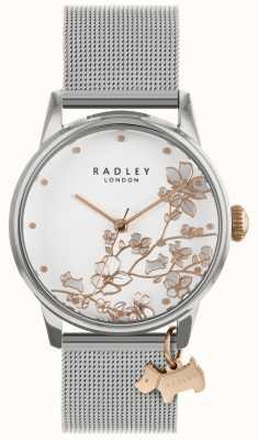 Radley Les dames | bracelet en acier inoxydable avec mailles d'argent | cadran blanc | RY4347