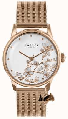Radley Montre bracelet en acier inoxydable plaqué or pour femme RY4348