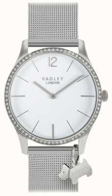 Radley Cristaux swarovski dames cadran blanc en acier inoxydable RY4353