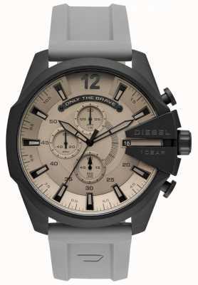 Diesel Mens mega chief montre bracelet en plastique gris cadran gris DZ4496
