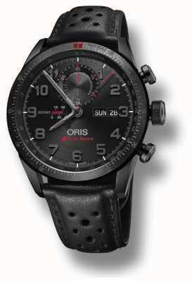 Oris Bracelet en cuir noir Audi sport edition limitée ii automatique 01 778 7661 7784-SET LS