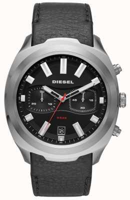 Diesel Montre pour homme avec bracelet en cuir noir DZ4499