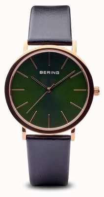 Bering Classique | bracelet noir doré or rose poli 13436-469