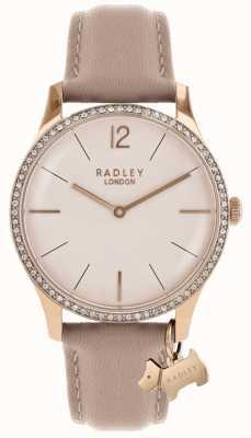 Radley Bracelet en cuir rose pour femme millbank RY2524