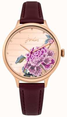 Joules Bracelet dames en cuir violet avec cadran multicolore JSL002VRG