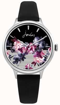 Joules Bracelet en cuir noir joules pour femme avec cadran violet multicolore JSL002B