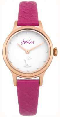 Joules Bracelet pour femme en cuir violet avec cadran blanc JSL007PRG