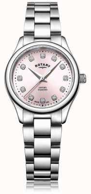 Rotary Bracelet en acier inoxydable avec cadran rose oxford pour femme LB05092/07/D