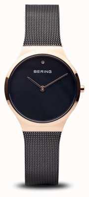 Bering Classique | or rose noir poli, visage noir 12131-166