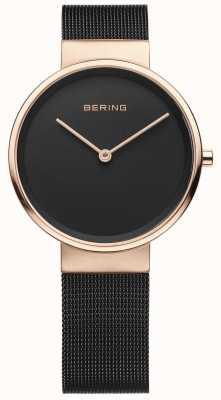 Bering Montre analogique à quartz pour femme avec bracelet en acier inoxydable 14531-166