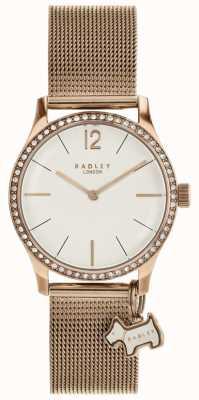 Radley Millbank montre de bracelet de charme en or rose RY4286