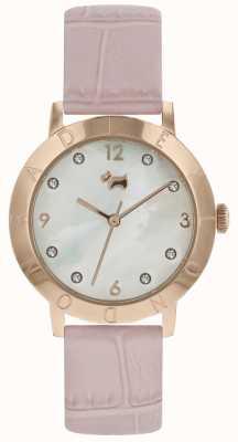 Montre Radley Highgate pour femme en bois, bracelet en or rose et rose RY2538