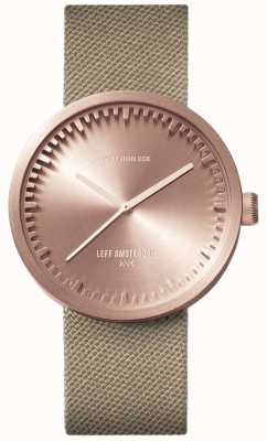 Leff Amsterdam Montre tube d38 | cordura or rose | sangle de sable LT71033