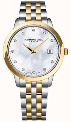 Raymond Weil Bracelet bicolore pour femme avec cadran en diamant 5388-STP-97081