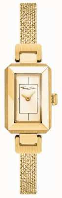 Thomas Sabo Bracelet femme en acier inoxydable jaune / or, cadran en or WA0331-246-207-23