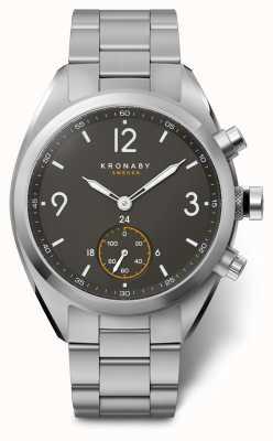 Kronaby Mens apex 41 cadran noir bluetooth en acier inoxydable a1000-3113 S3113/1