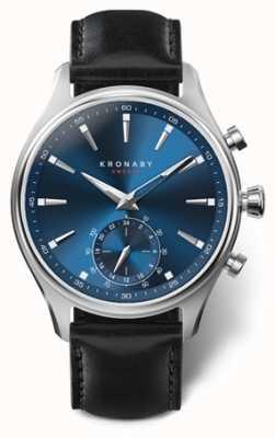 Kronaby Hommes sekel 41 en acier inoxydable | cadran bleu | noir a1000-3758 S3758/1