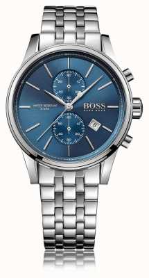 Hugo Boss Bracelet pour homme en acier inoxydable chrono cadran bleu 1513384