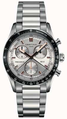 Certina Mens ds-2 | chronographe Precidrive | cadran argenté | C0244471103101