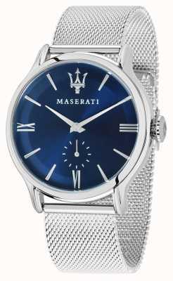 Maserati Epoca Homme 42mm | cadran bleu | bracelet en maille d'argent R8853118006