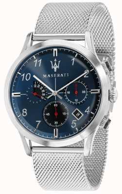 Maserati Hommes ricordo 42mm | cadran bleu | bracelet en acier inoxydable R8873625003