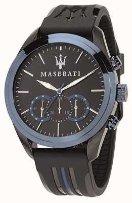 Maserati Chronographe homme traguardo | cadran bleu | silicone noir R8871612006