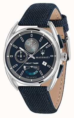 Maserati Trimarano yatch timer 41 | cadran bleu | bracelet en tissu bleu R8851132001