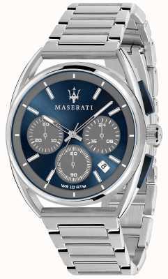 Maserati Trimarano homme 41mm | cadran bleu | bracelet en acier inoxydable R8873632004