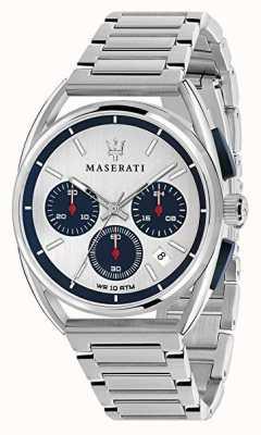 Maserati Trimarano homme 41mm | cadran argent / bleu | acier inoxydable R8873632001