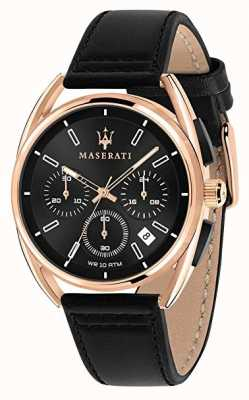 Maserati Trimarano homme 41mm | boîtier en or rose | cadran noir | R8871632002