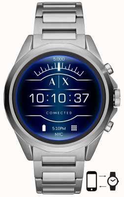 Armani Exchange Connecté | montre intelligente | bracelet en acier inoxydable AXT2000