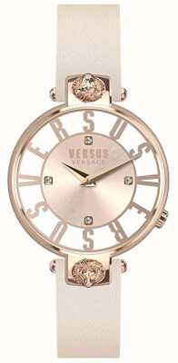Versus Versace Femmes Kristenhof | cadran rose / blanc | bracelet en cuir rose VSP490318